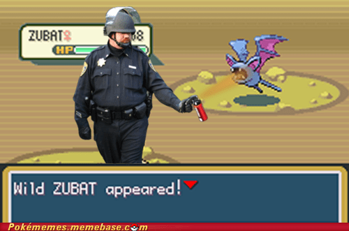 cave,meme,Memes,Occupy Wall Street,Pepper Spray Cop,zubat