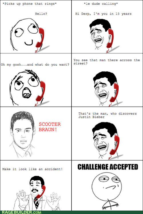 justin bieber murder phone Rage Comics time travel