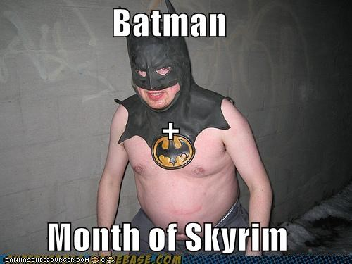 batman catwoman Skyrim Super-Lols video gameshi - 5468216064