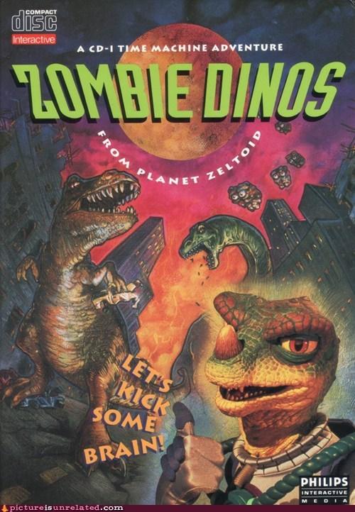 brain,dinosaurs,wtf,zombie