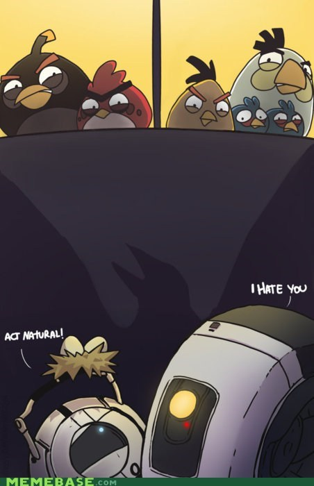 angry birds,Fan Art,portal 2,video games