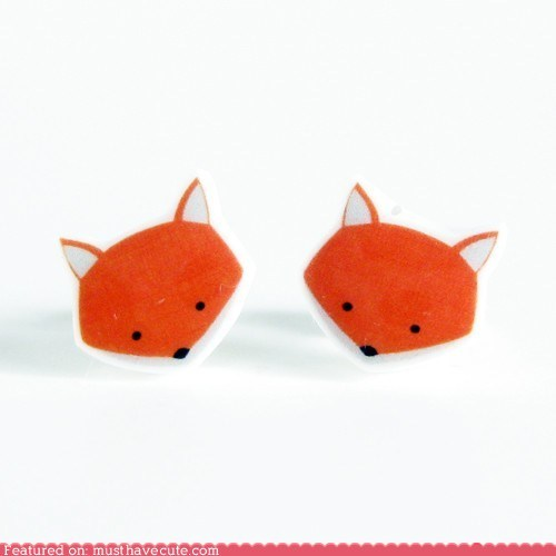 accessories,earrings,foxes,gift guide,Jewelry,studs