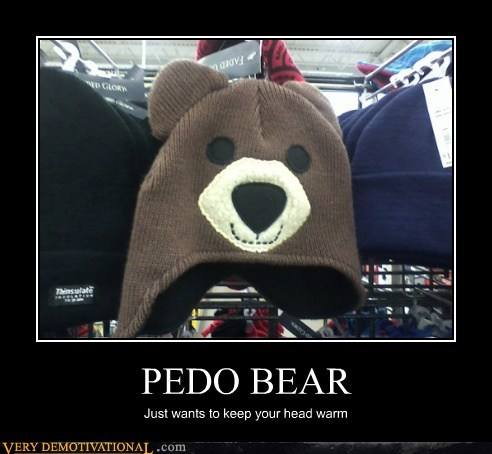 bear,hat,head,hilarious,pedobear,warm
