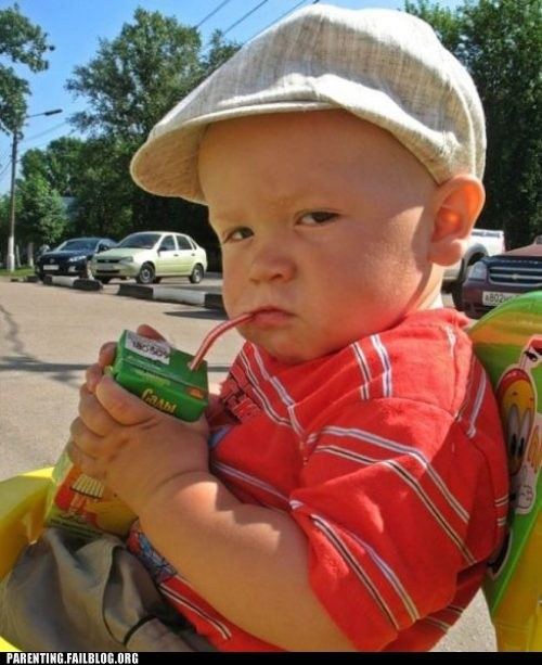 baby,BAMF,juice box,look out,Parenting Fail,tough guy