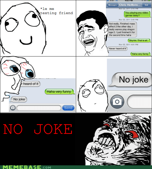 no joke,Rage Comics,Skyrim,video games