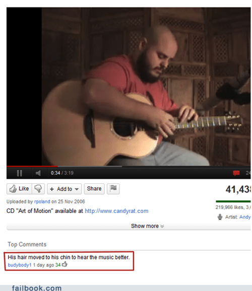 guitar,hair,Music,top comment,youtube