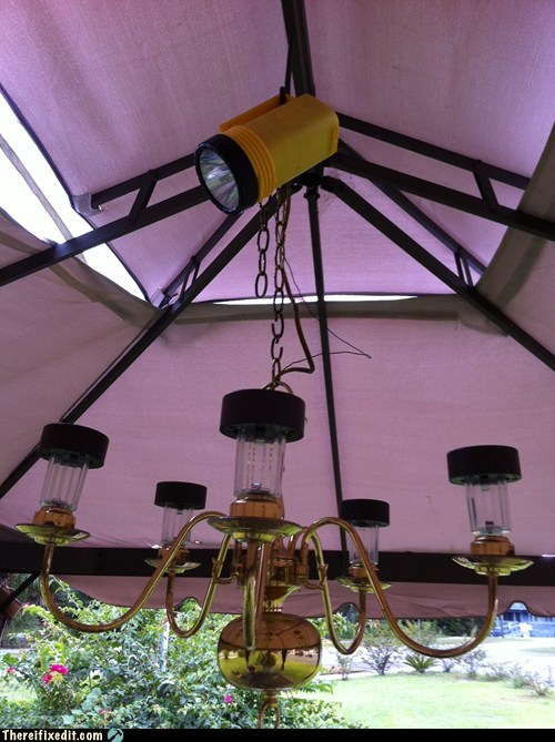 chandelier flashlight holding it up lights - 5469137920