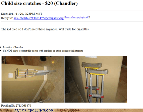 cigarettes,craigslist,crutches,wikipedia