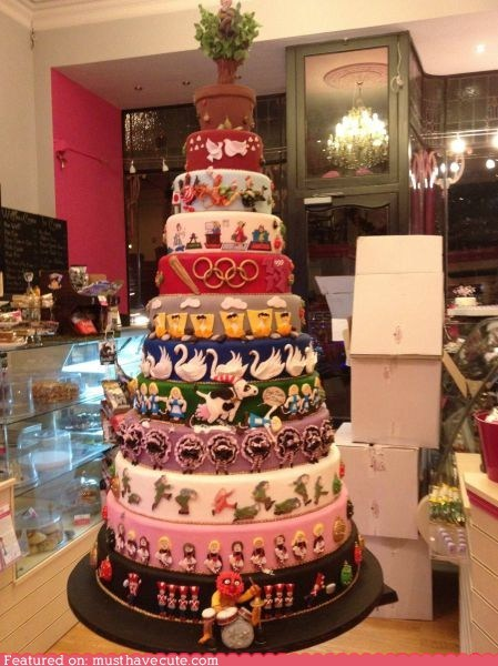animal,best of the week,cake,christmas,epicute,layers,muppets,tiered