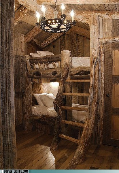 best of the week,bunk bed,cosy,rustic,wood