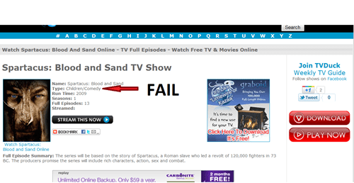 description not for kids television - 5469687040