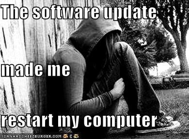 computer emolulz First World Problems postpone restart update Y U NO - 5470300928