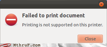 cannot print,failiest printer,printing not supported