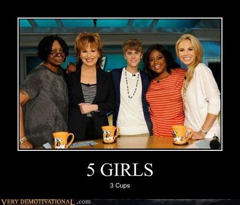 3 cups,eww,hilarious,justin bieber,the view