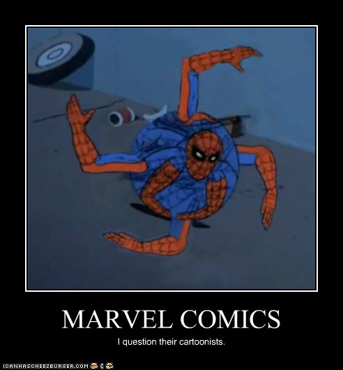 MARVEL COMICS I question their cartoonists.
