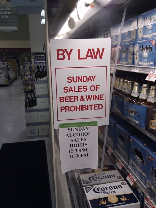 beer,i fought the law,law,liquor store,sunday,The Man,wine
