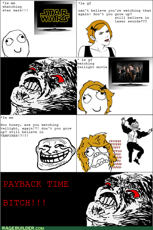 grow up Rage Comics star wars twilight - 5471665664