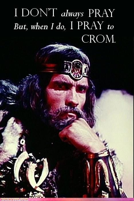 actor Arnold Schwarzenegger celeb Conan the Barbarian funny meme - 5471704576