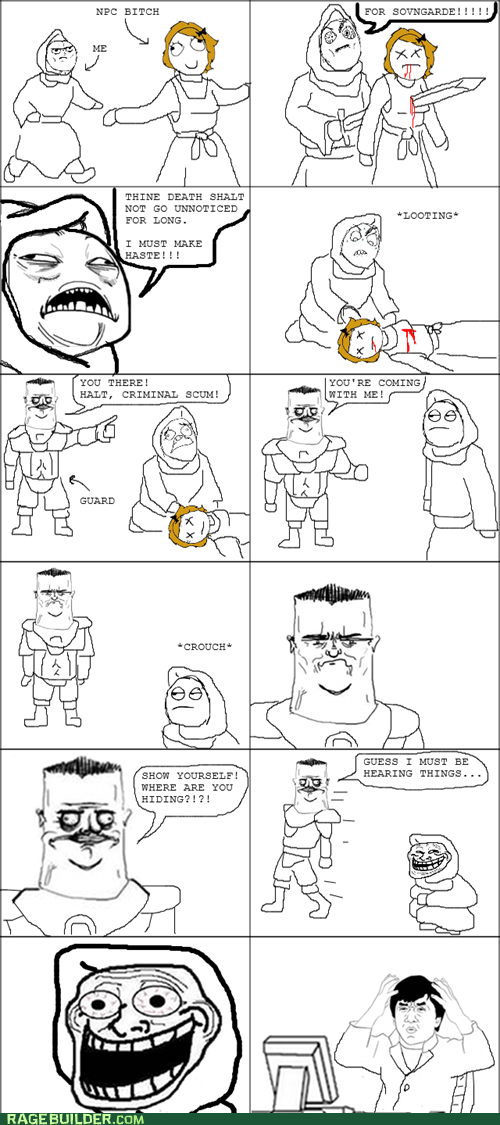 guards,hidden,looting,Rage Comics,Skyrim