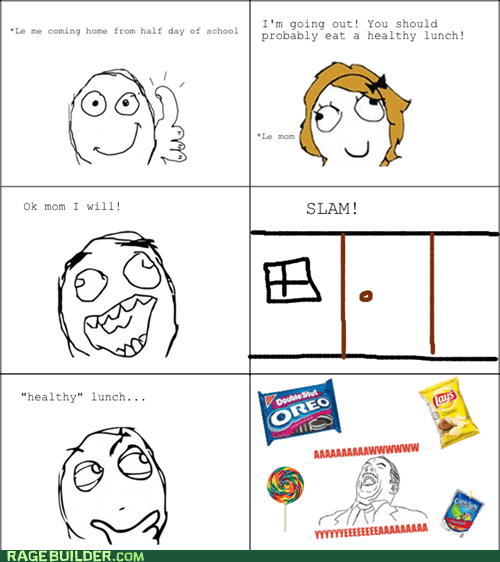 healthy,lunch,Rage Comics,school
