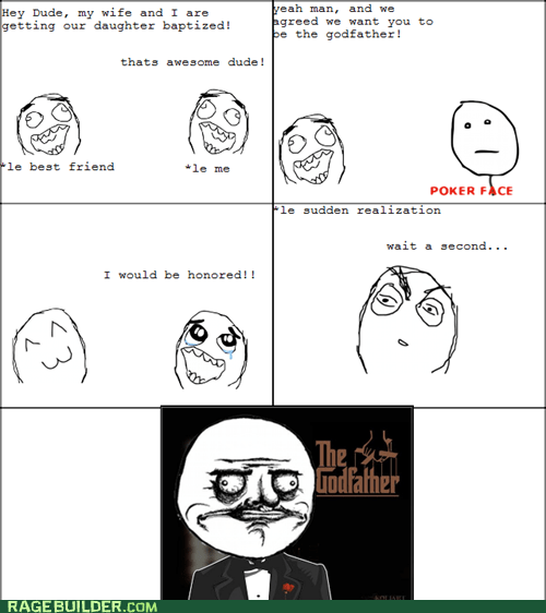 baby baptism Rage Comics the godfather