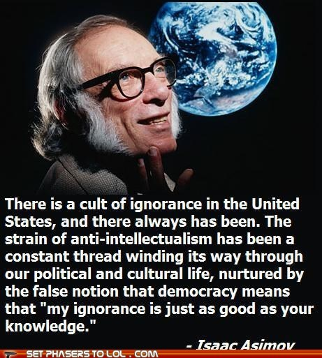 author isaac asimov knowledge quote science fiction scientist writer
