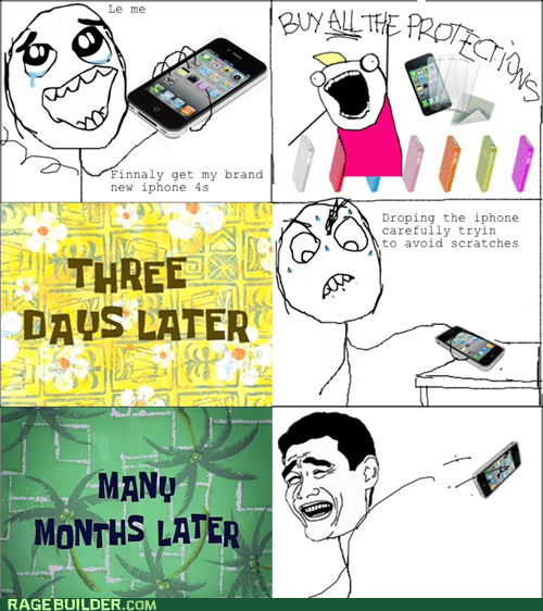 new phone Rage Comics scratches - 5472207872