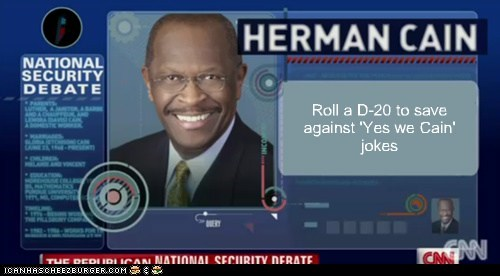 dungeons and dragons,election 2012,herman cain,political pictures