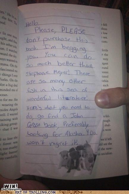 book IRL literature note twilight - 5472252160