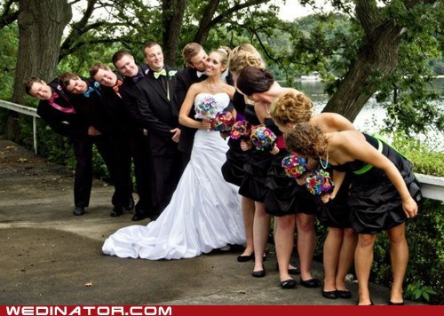 bride bridesmaids funny wedding photos groom Groomsmen Hall of Fame wedding party - 5472393216