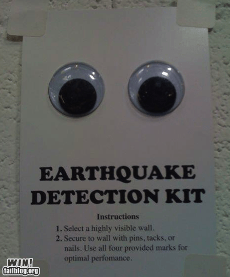 clever,disaster,duck and cover,earthquake,emergency,googly eyes,prevention