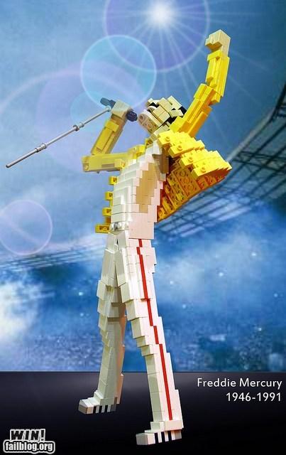 art celeb design freddie mercury lego miyazaki model monty python nerdgasm pop culture Sarah Palin sculpture totoro - 5472620800