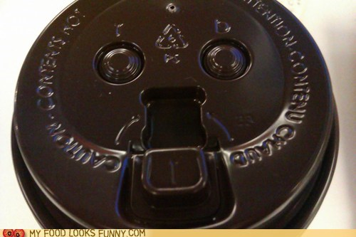 coffee cup face lid McDonald's
