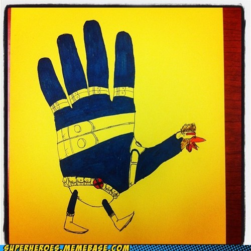 Awesome Art,cyclops,hand turkey,thanksgiving,x men