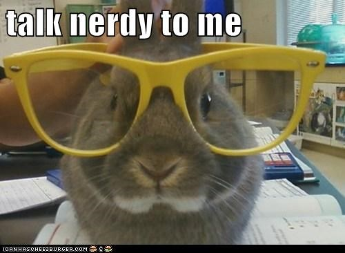 bunny caption captioned glasses me nerdy rabbit talk TO - 5472846592