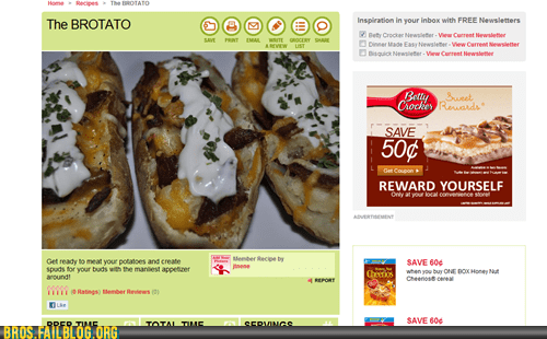 betty crocker,bro recipes,brotato