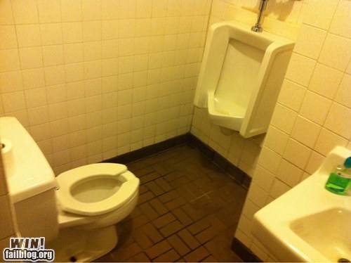 Challenge Accepted,Multitasking,toilet,urinal,wait what