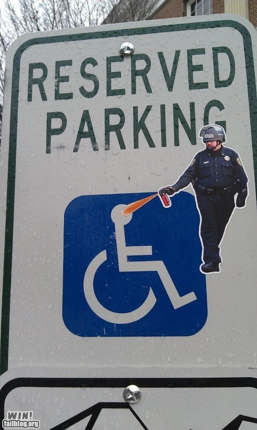 disabled,hacked irl,Occupy Wall Street,pepper spray,Pepper Spray Cop,political,Protest,tag