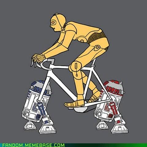 bicycle C-3PO Fan Art r2-d2 R4 star wars - 5472974592