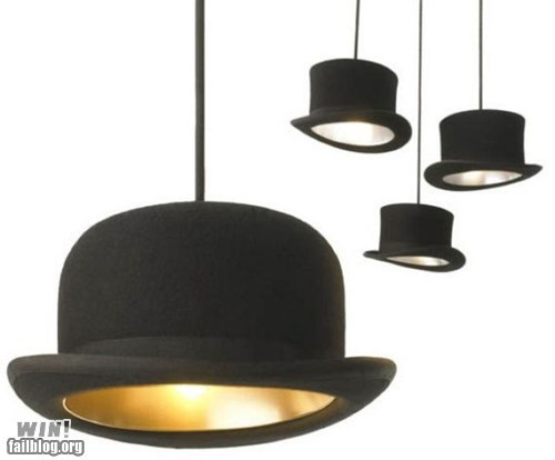 classy dapper design Hall of Fame hat lamp light sabina unbearable lightness of being