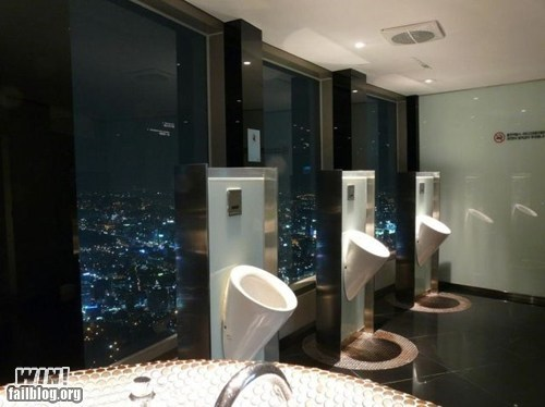 bathroom Brother Nature FTW city classy toilet urban view - 5473119232