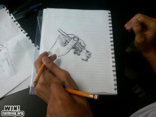 clever,doodle,drawing,escher,Inception,recursion,sketch