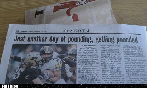 article college football headline Iowa newspaper pound sports - 5473248256