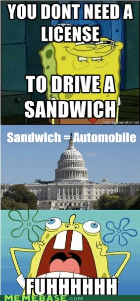 Congress Memes pizza sandwich SpongeBob SquarePants vegetable - 5474815744
