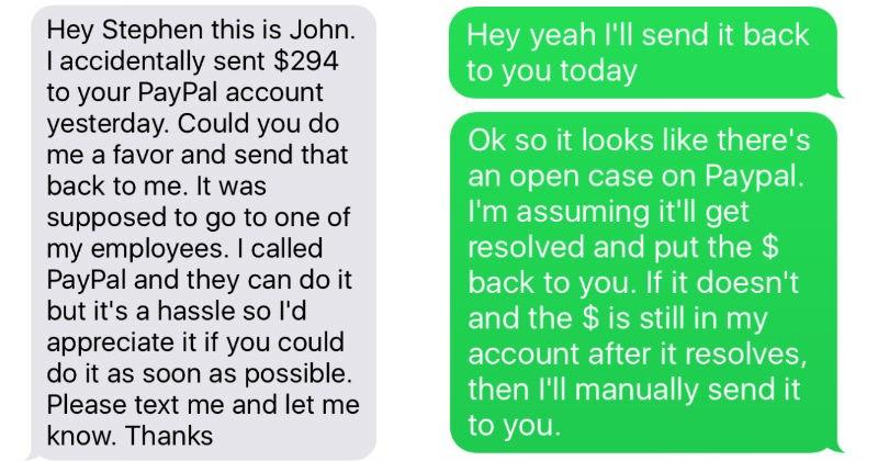 FAIL Awkward paypal ridiculous funny conversation texting - 5475077