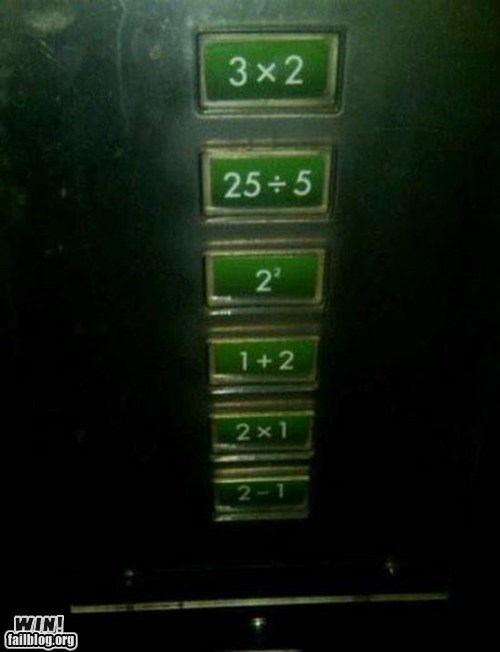 building buttons clever design elevator math - 5475436800