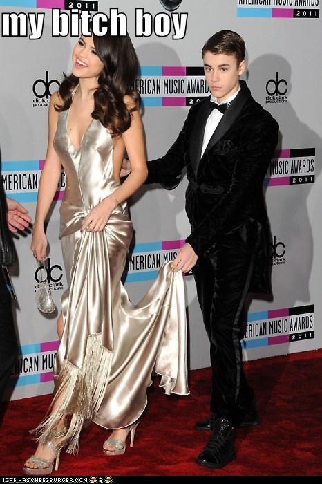 AMAs,btch,dresses,gowns,justin bieber,Selena Gomez