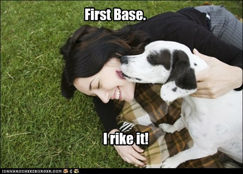 First Base. I rike it!