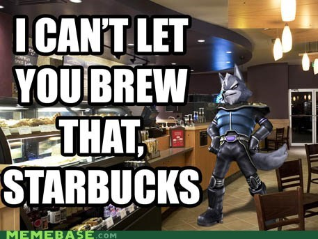 brew flavor Memes shot Star Fox Starbucks video games - 5477057792