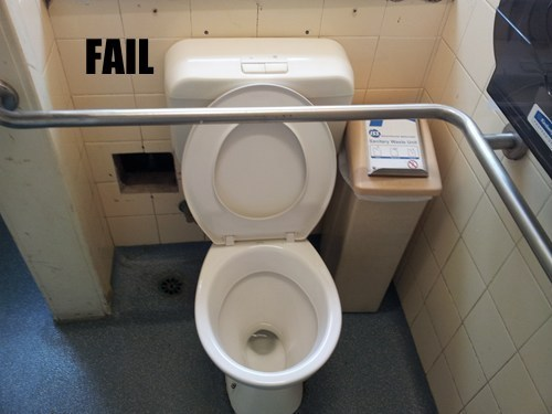 disable toilet fail